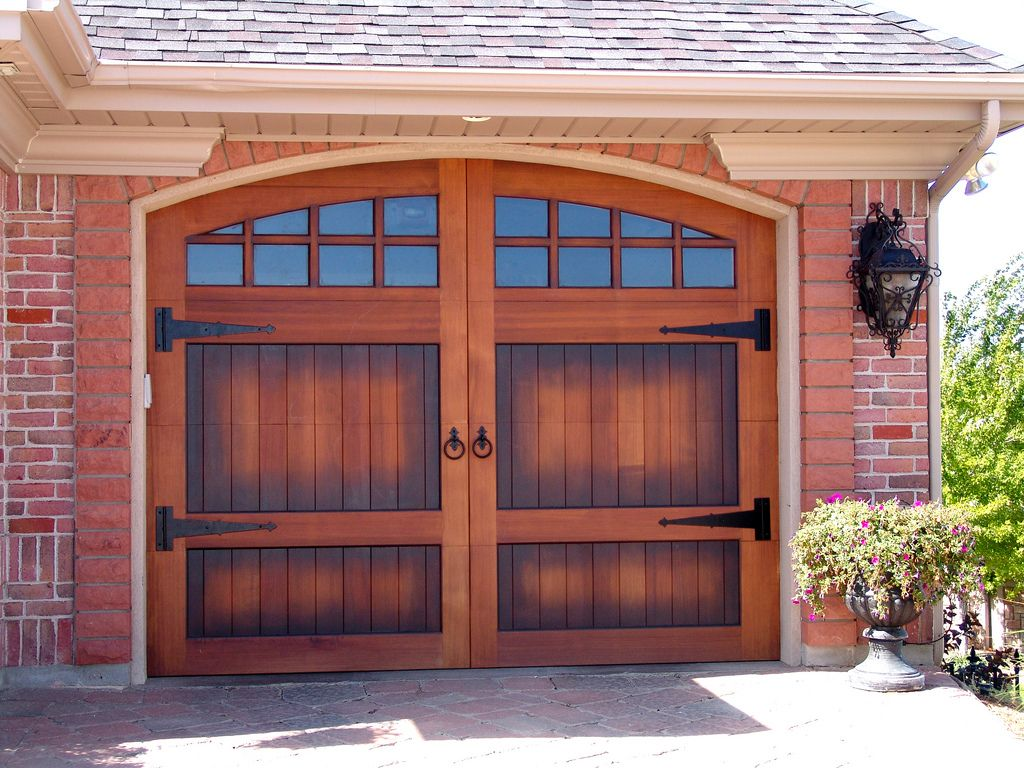 Wood Stained Garage Door By Carriage House Available At Www