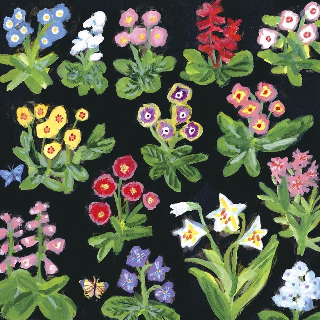 網中いづる Izuru Aminaka On Instagram Flowers Izuruaminaka Artwork Illustration 網中いづる イラストレーション 貴婦人と一角獣展 Goods Textiledes Floral Illustration Enamel Pins