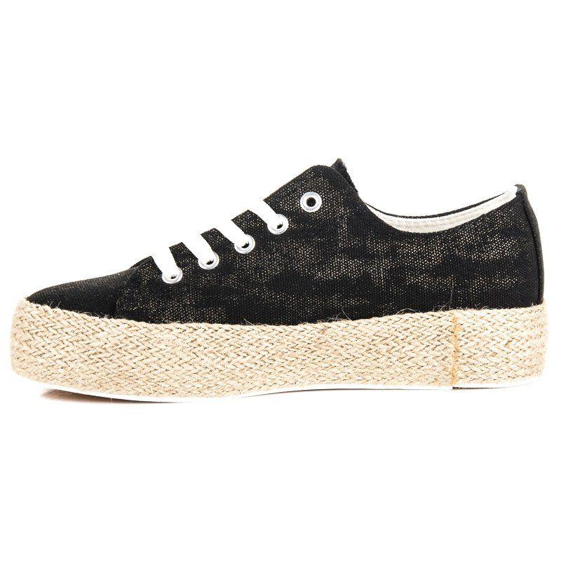 Czarne Espadryle Na Wiazanie Sneakers Golden Goose Sneaker Shoes