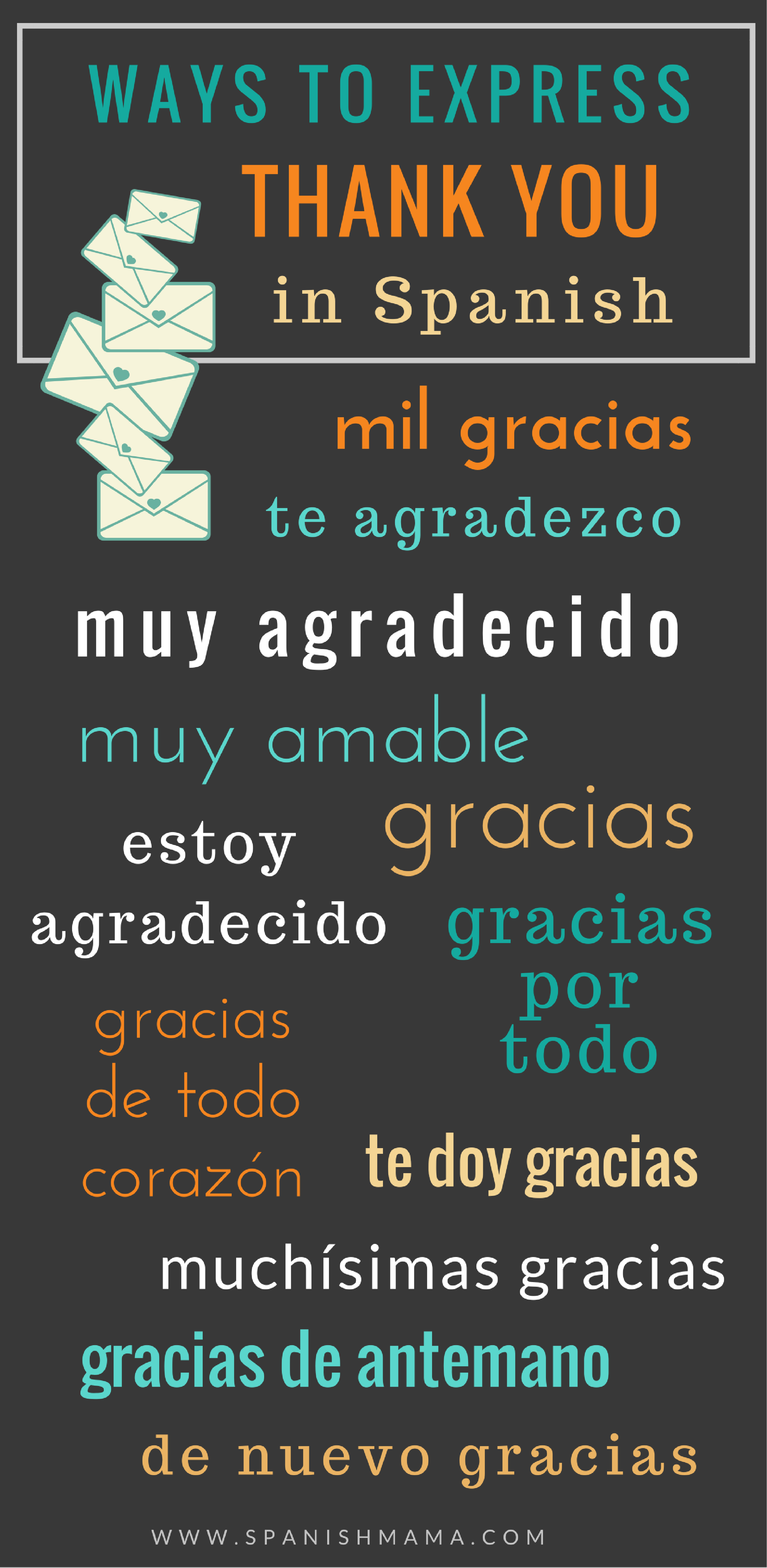 Expressing Thanks And Saying Happy Thanksgiving In Spanish Learning Spanish Spanish Vocabulary Teaching Spanish