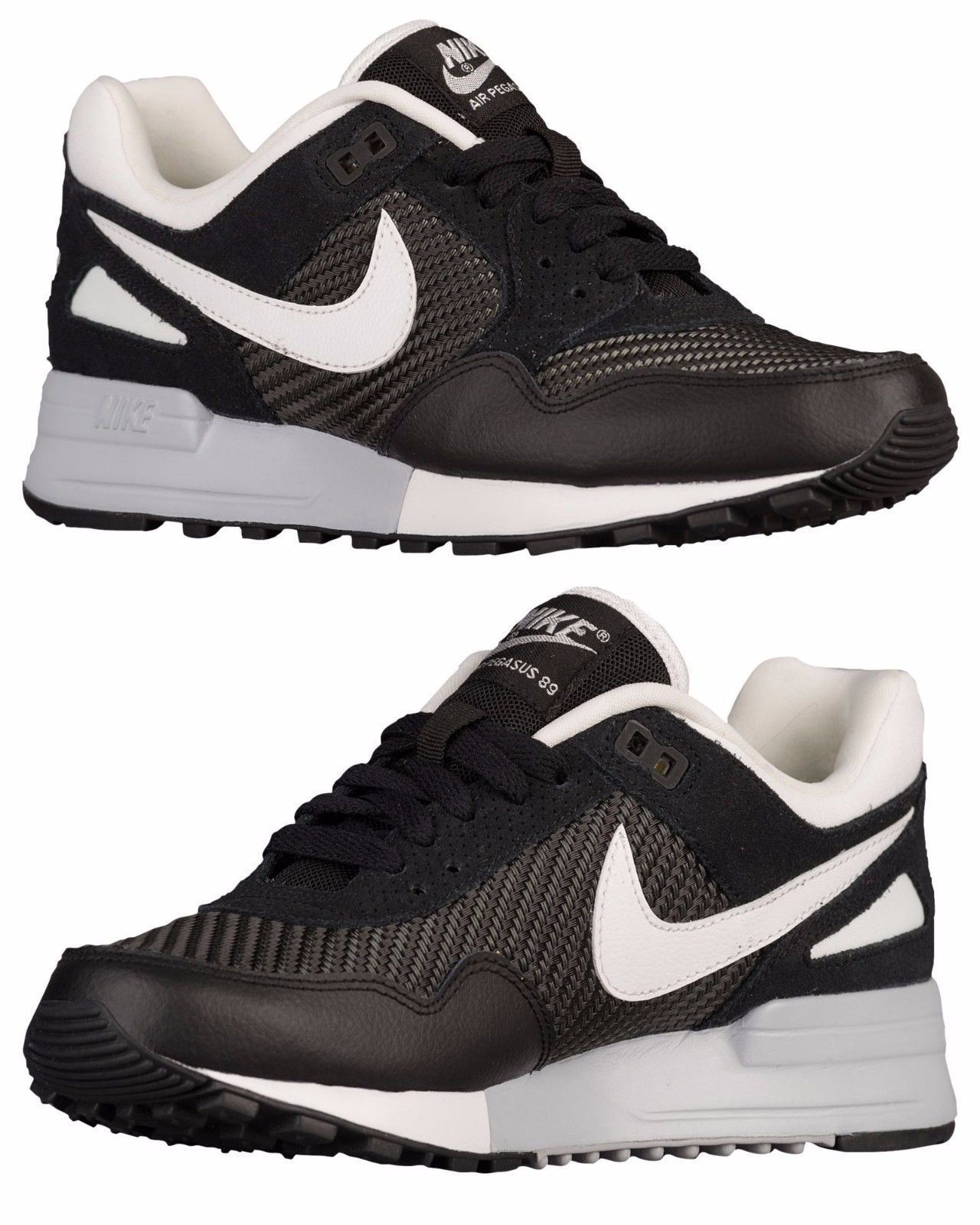 d284db1960574f Nike Air Pegasus 89 Women S Casual Black - Wolf Grey - Summit White  Authentic Us