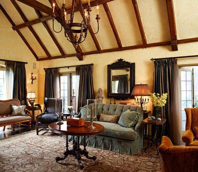 Curtain rods tudor homes interior design old world style for a tudor revival house traditional