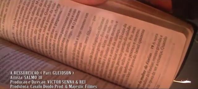 Salmo 38 A Ressurreição Part. Gleidson Vídeo Clipe 2013