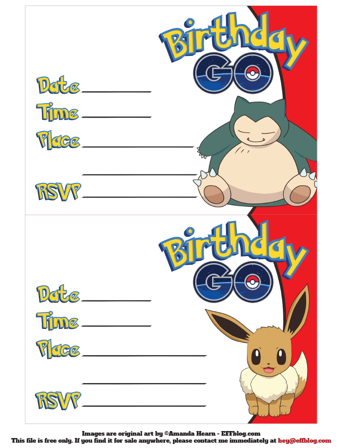 Free pokemon printable invitation for Pokemon templates print