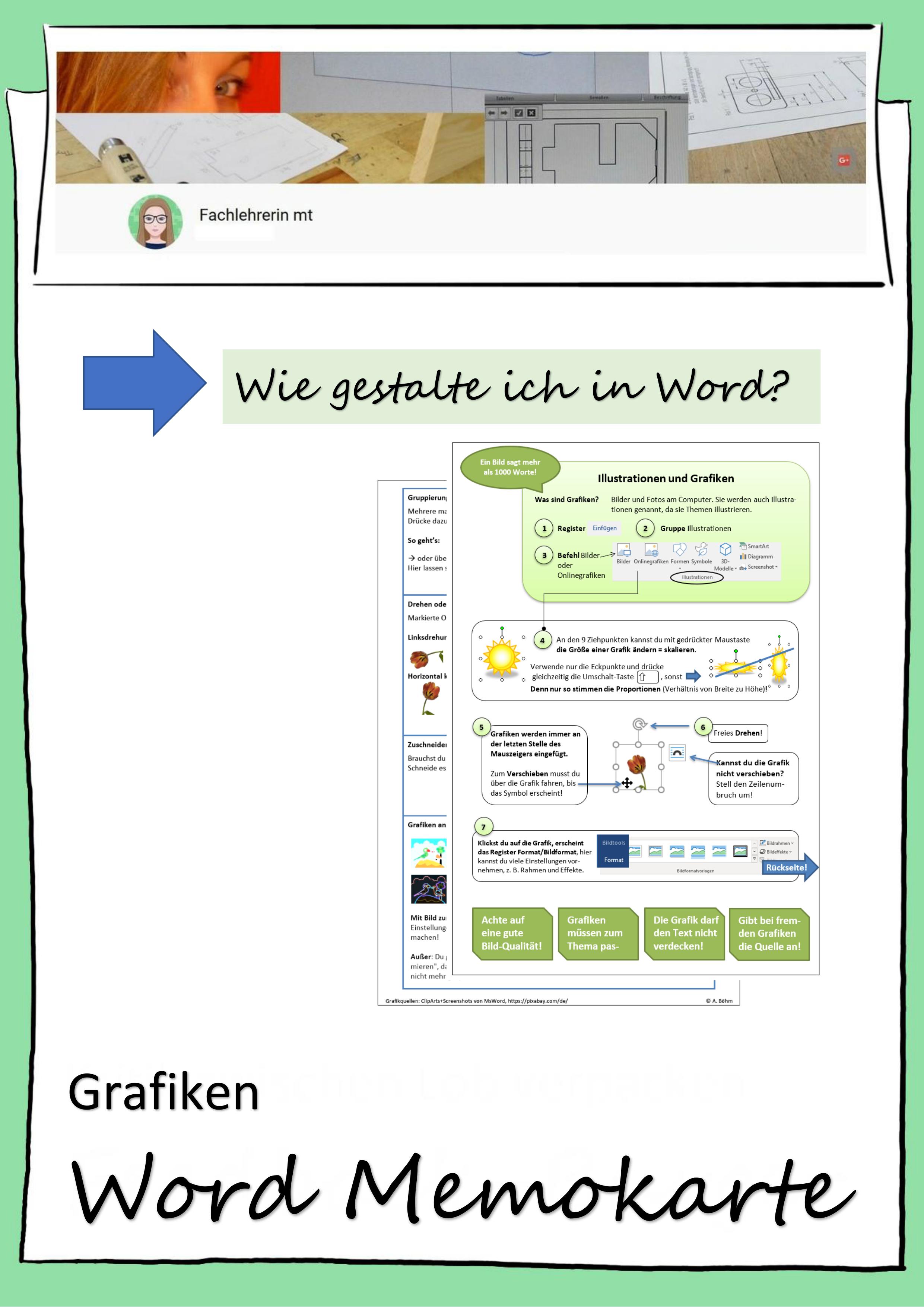Microsoft Word Memokarte Grafiken Unterrichtsmaterial Im Fach Informatik Itg In 2020 Microsoft Word Microsoft Unterrichtsmaterial