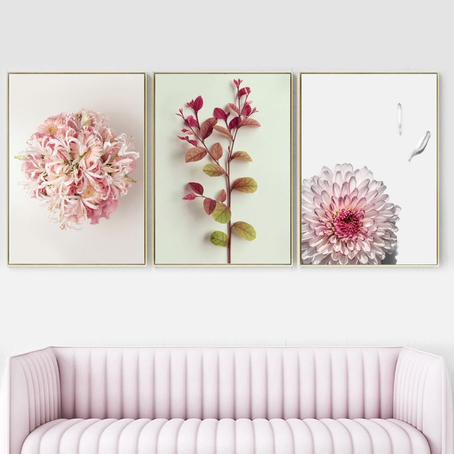 Pink Flowers Canvas Wall Art Flower Canvas Wall Art Pink Peonies Art Flower Canvas