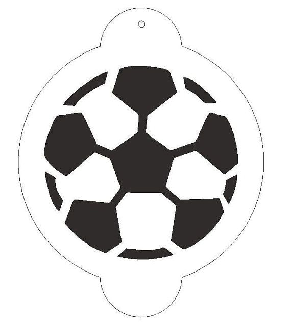 Soccerball Stencil for Decorating Cake #S119 --Free U.S. Shipping ...