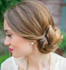 resultado de imagen para peinados pelo corto mujer lacio recogido