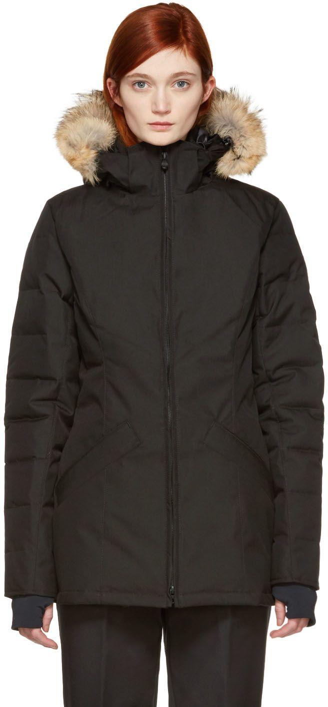 Canada Goose Black Down Belmont Parka Black Down Parka Jackets For Women [ 1412 x 656 Pixel ]