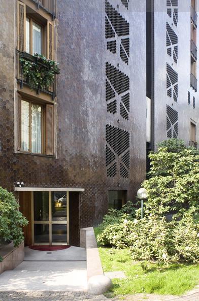 Luigi Caccia Dominioni Milano Architektur Mailand Italien Fassade
