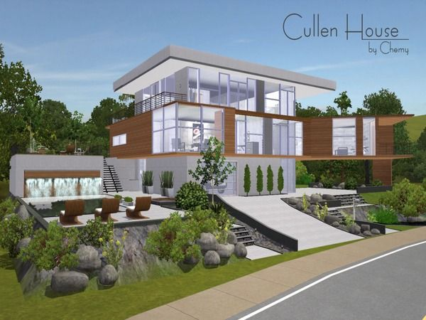 Cullen House By Chemy Sims 3 Downloads Cc Caboodle Sims House House Sims 4 Houses