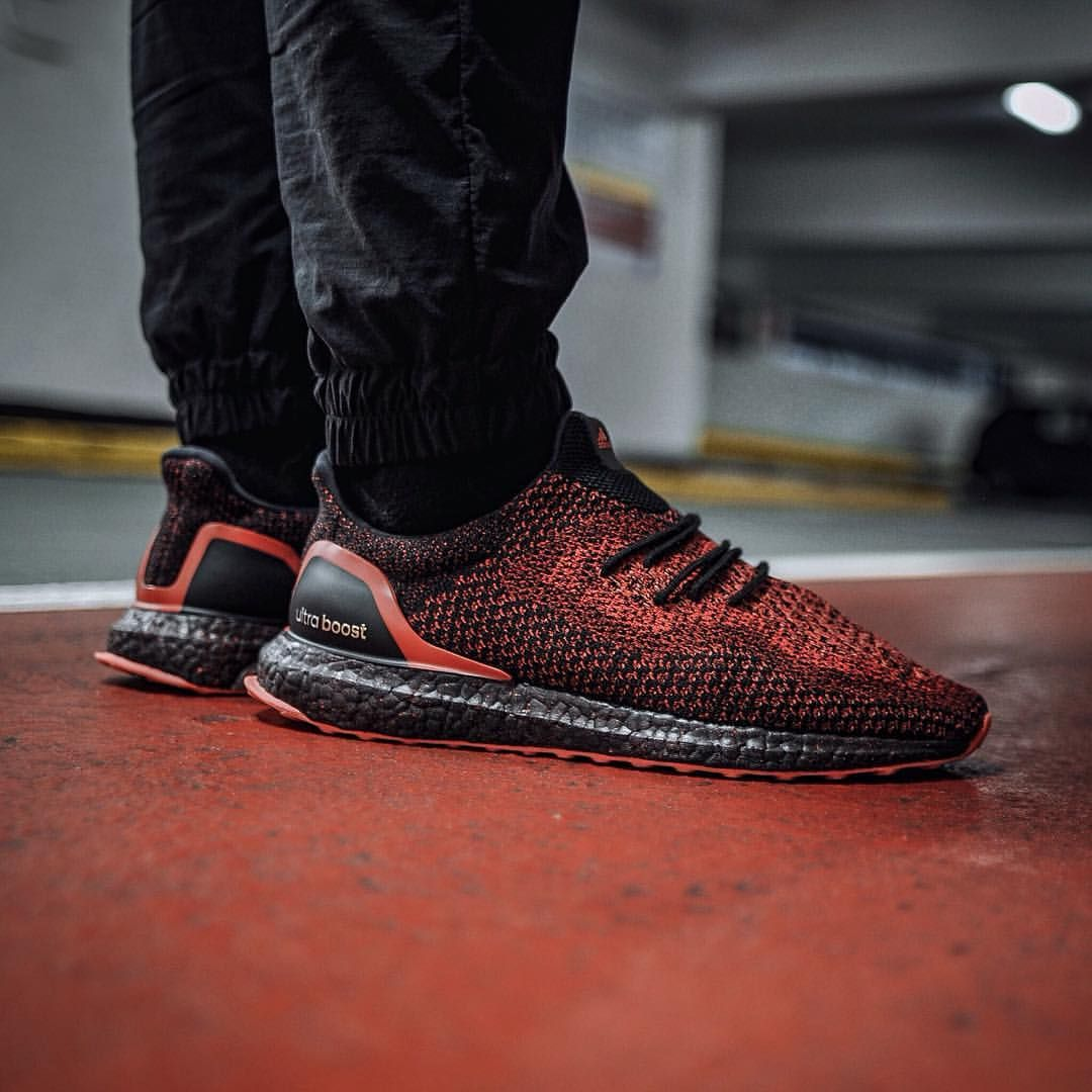 adidas ultra boost black solar red uncaged customs f. Black Bedroom Furniture Sets. Home Design Ideas