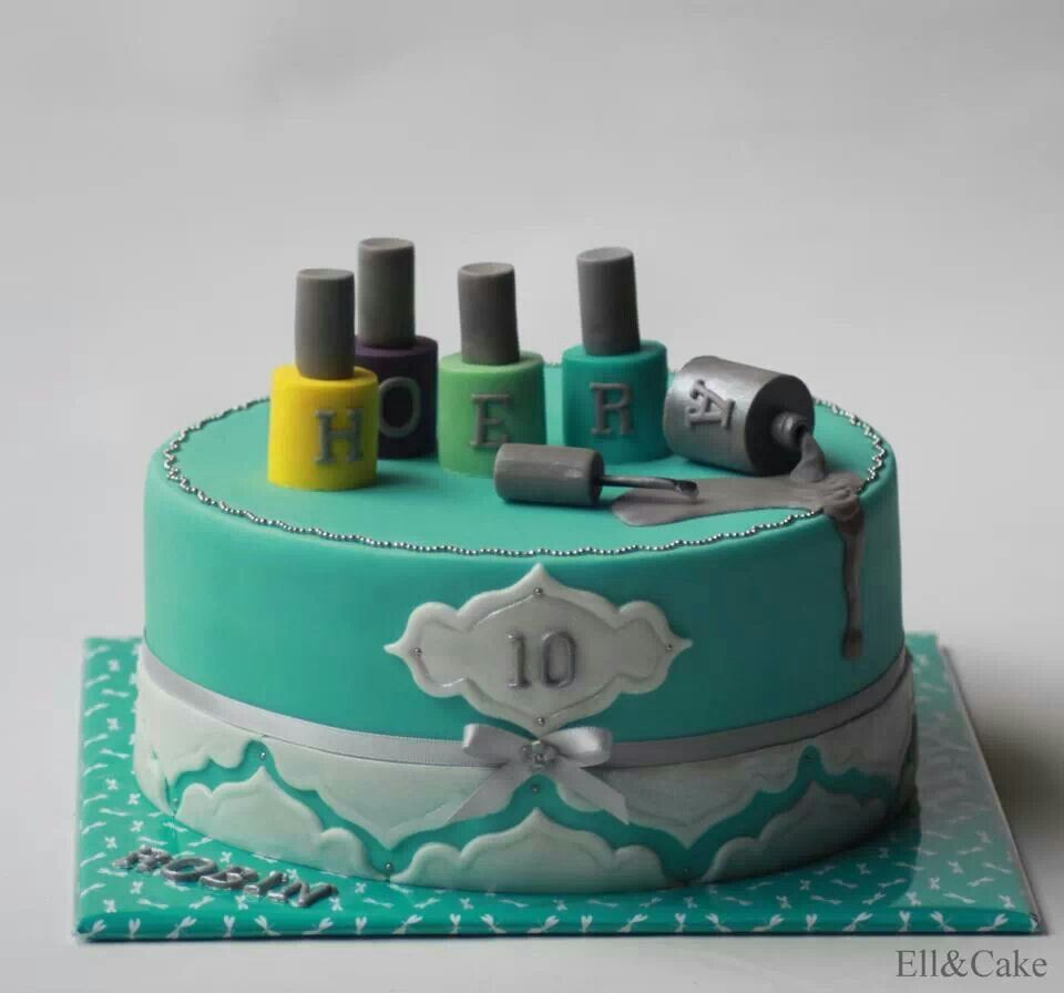 Nail polish cake by Ell Cake | Cakes - Ideas | Pinterest | Madres