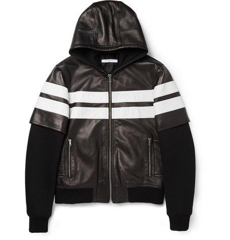 Givenchy Leather and Neoprene Bomber Jacket | MR PORTER