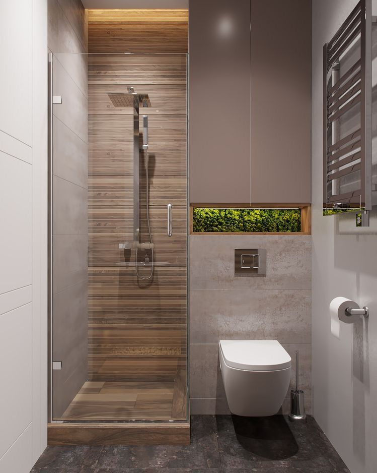 10 Small Bathroom Ideas For Minimalist Houses Small Bathroom Bathroom Design Small Tiny House Bathroom