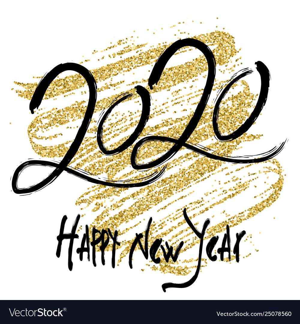 2020 design for new year Royalty Free Vector Image #seasonsoftheyear