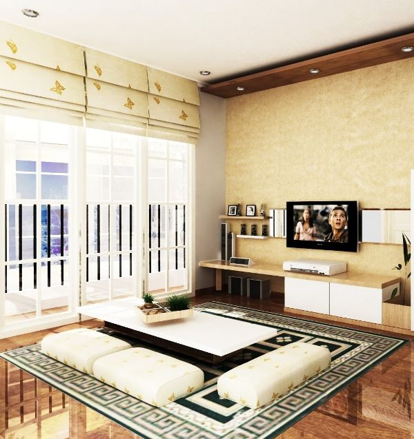 Desain Ruang Tamu Kecil Lesehan Mewah Unik
