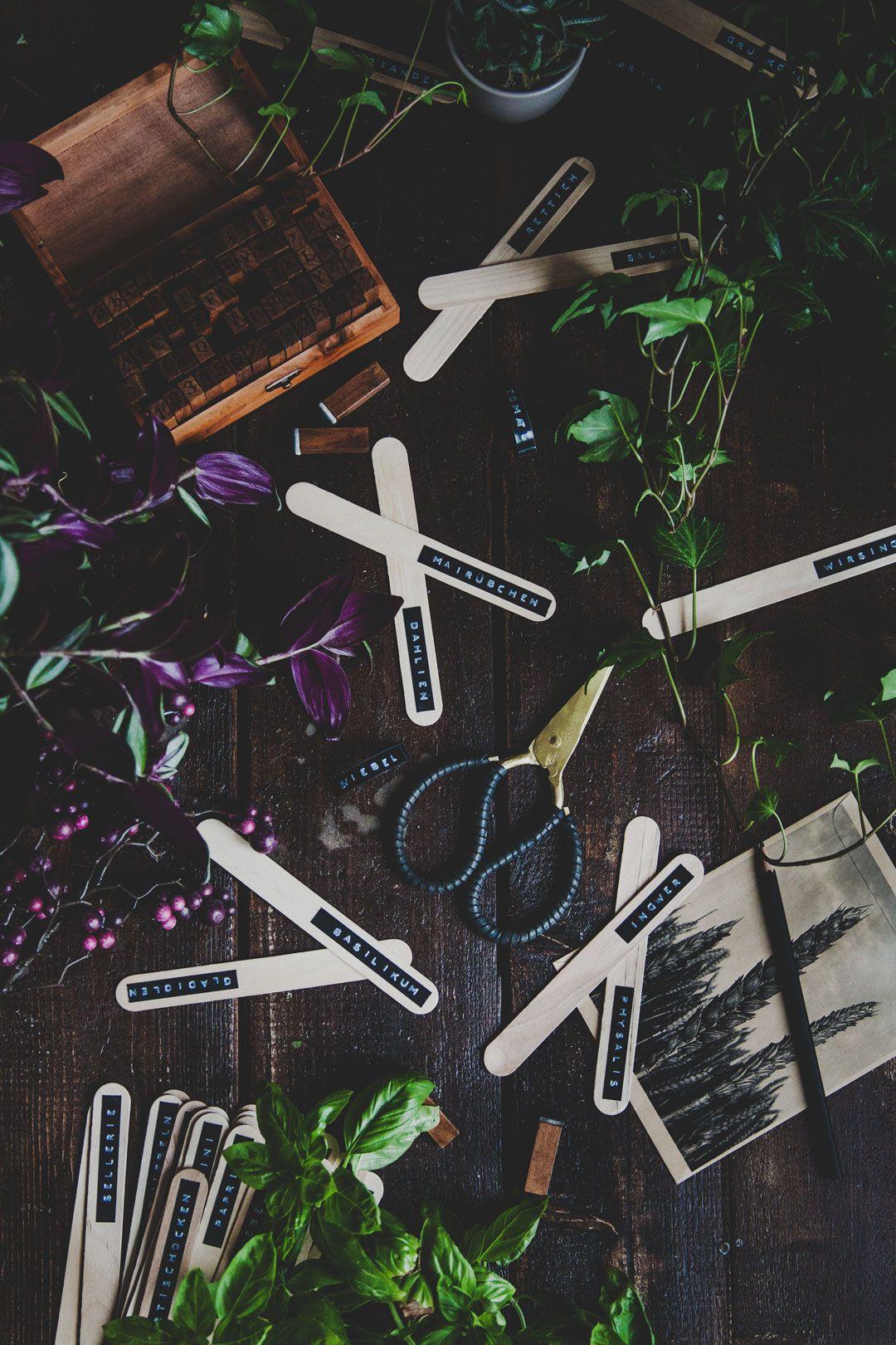 DIY, Pflanzenschilder, Garten, Pflanzen, Beschriftung, Aussaat, Nachhaltig,  Oekologisch,