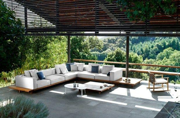 Mobilier de jardin en teck: la collection Vis à vis par Tribu ...