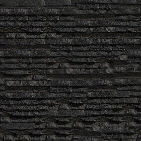 Perfect Black Stone Wall Texture Seamless Cladding Internal Walls 08114 Architecture Throughout Decor