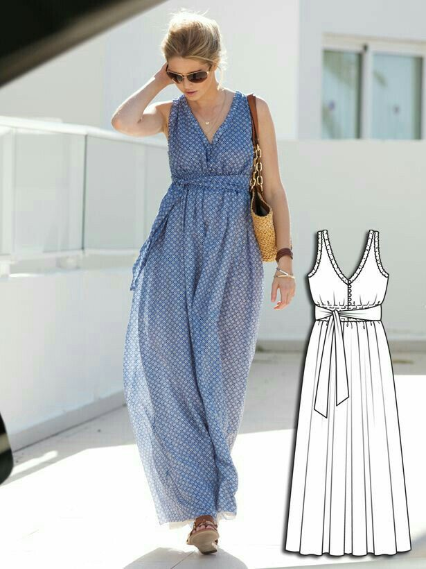 Burda Smocked Maxi-Dress 04/2013 #125 | DIY en Naaldwerk | Pinterest ...