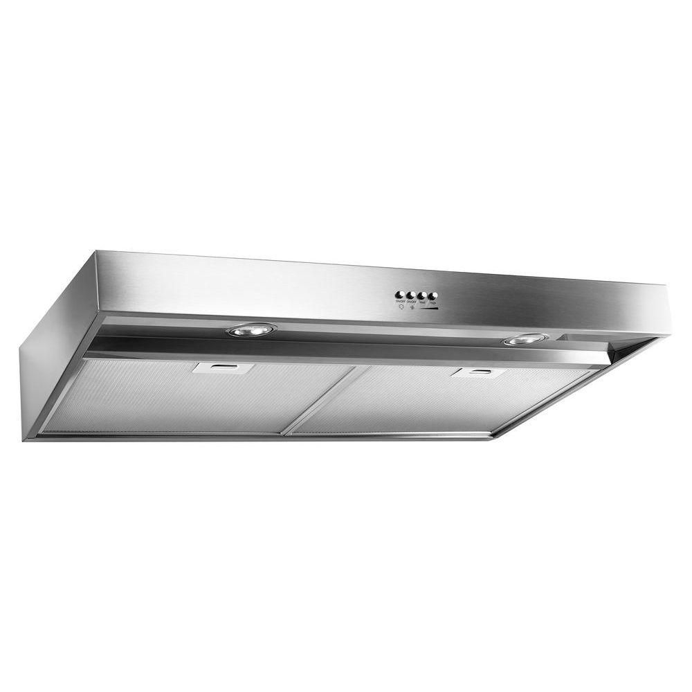 Whirlpool 30 In Range Hood In Stainless Steel Wvu37uc0fs The Home Depot Stainless Range Hood Range Hood Stainless Steel Hood