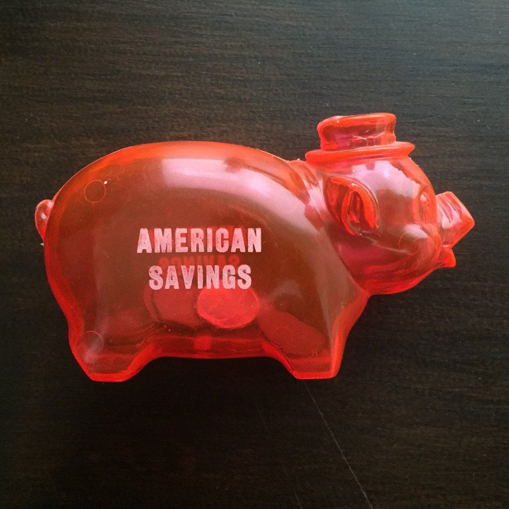Vintage American Savings Advertising Promo Small Plastic