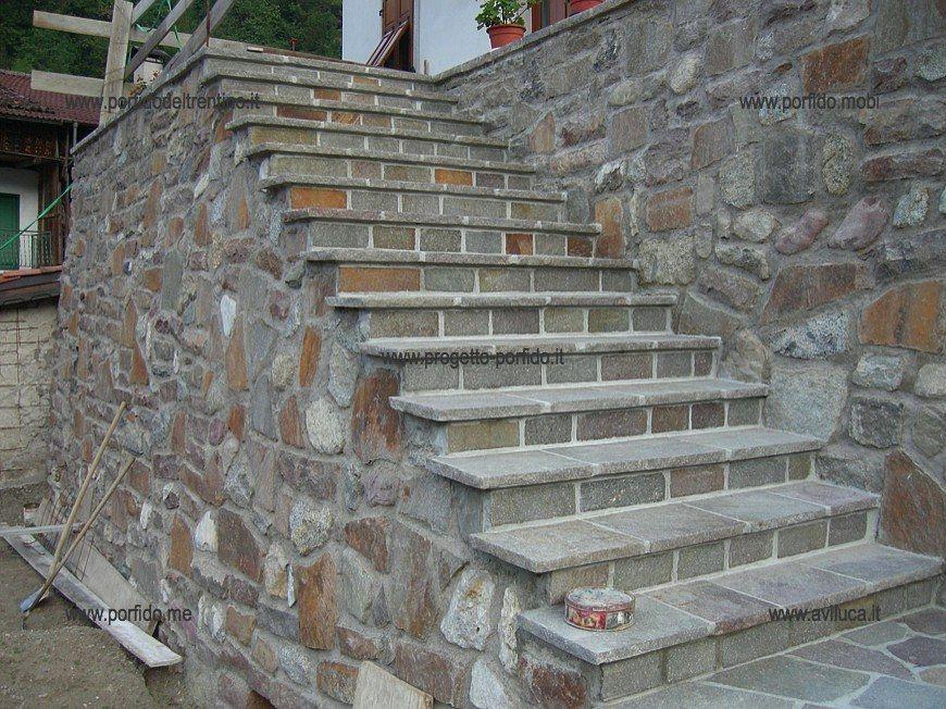 Eccezionale Foto gradini di porfido trentino piano cava colorato… gradini UZ61