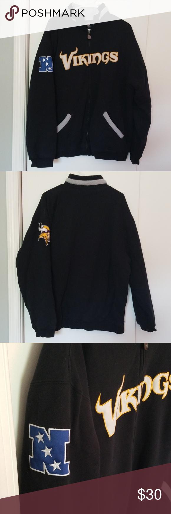 Minnesota Vikings Nfl Proline Jacket Xl Minnesota Vikings Nfl Proline Jacket Size Xl Vikings Across Full Zip Front Nfc L Jackets Clothes Design Fashion Design [ 1740 x 580 Pixel ]