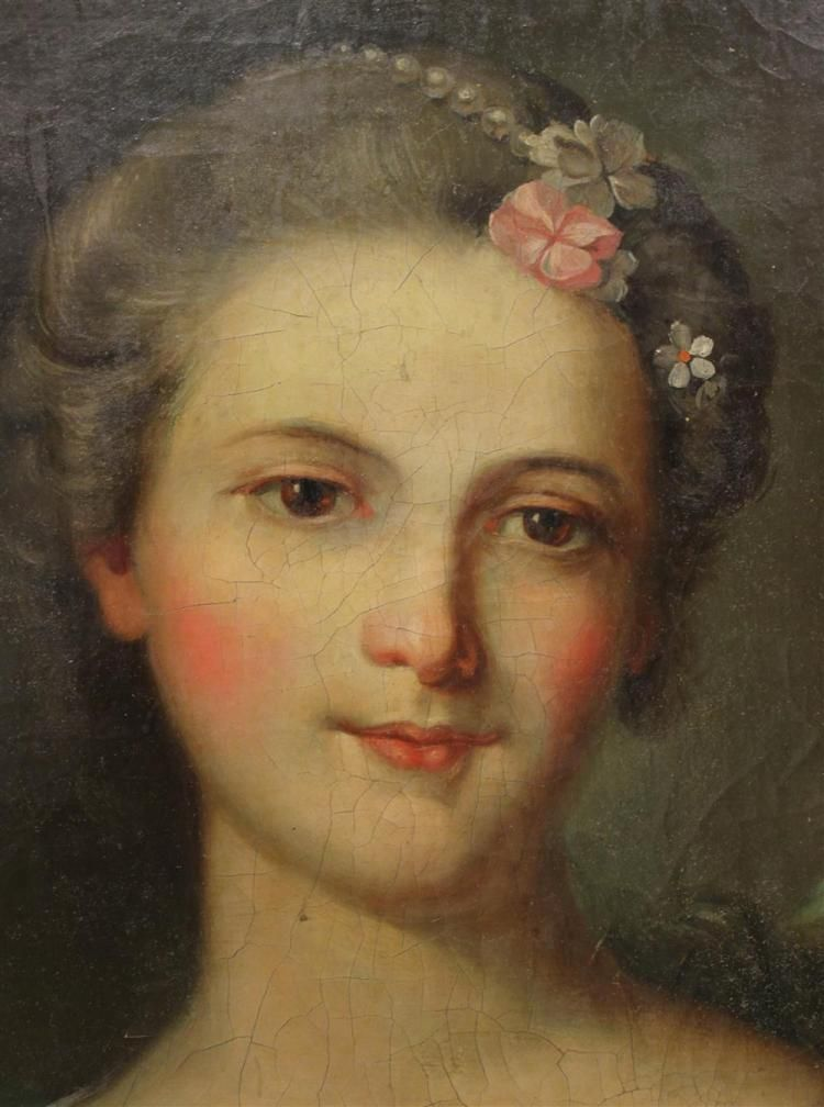 CIRCLE OF JEAN MARC NATTIER (FRENCH 18TH CENTURY) PORTRAIT OF A LADY AS A RIVER GODDESS