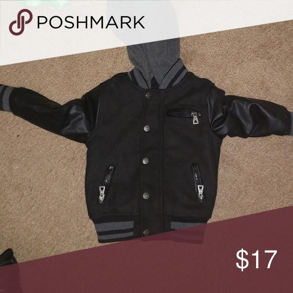 New NWT GAP Toddler Boys Parka Warm Hooded Jacket Size 2 2T Grey