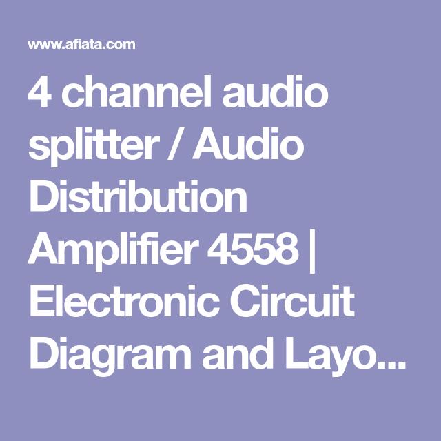 4 Channel Audio Splitter Audio Distribution Amplifier 4558