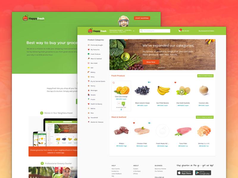 HappyFresh | UI Design | Ui design, Design, Ui ux