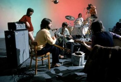 """January 1969: starting in Jan 2, the Beatles and the Lindsey Hogg film crew gather at Twickenham Fim Studio for shooting what would become the """"Let It Be"""" movie. Tension was so high that on Jan 10 Harrison decided to leave the band, and only after a meeting in Jan 15 it was decided to continue the project in the new Apple basement studio in Savile Row, London."""