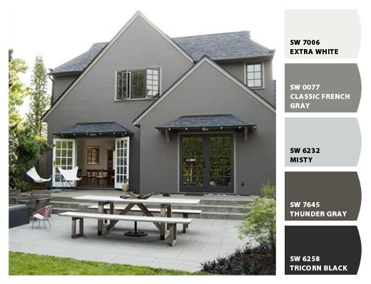 Paint colors from chip it by sherwin williams bucknam - Sherwin williams thunder gray exterior ...