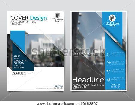 Blue annual report brochure flyer design template vector, Leaflet - free annual report templates