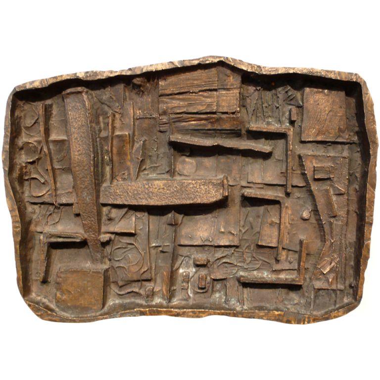 Abstract Bronze Wall Sculpture by Abbott Pattison | www.1stdibs.com
