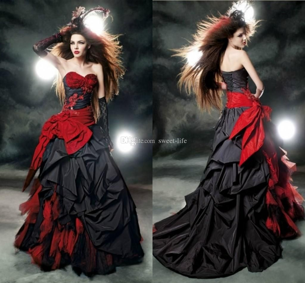 Black red gothic wedding dresses dhgate dress images black red gothic wedding dresses dhgate ombrellifo Gallery