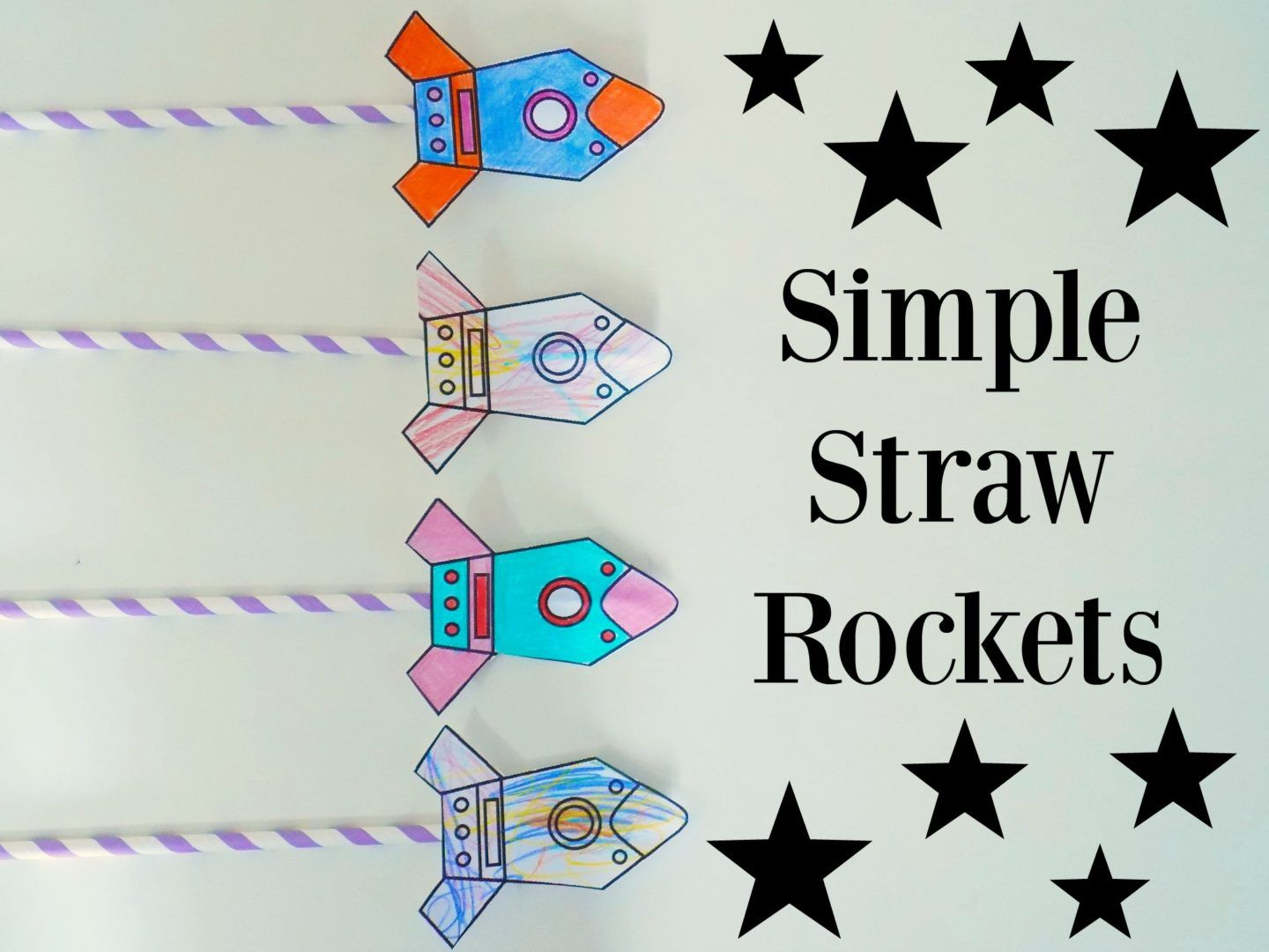Simple Straw Rockets Free Printable