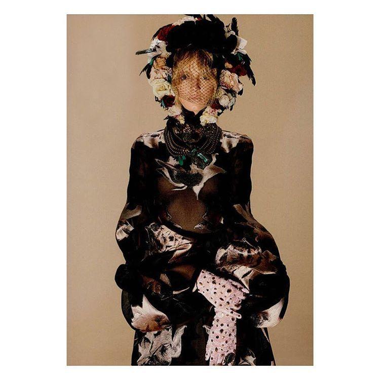 Alexander McQueen AW15 organza rose gown