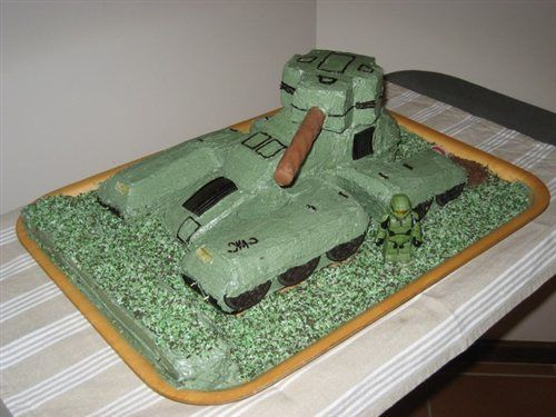 Pin Gears Of Halo War Birthday Cakes Cake On Pinterest Desserts