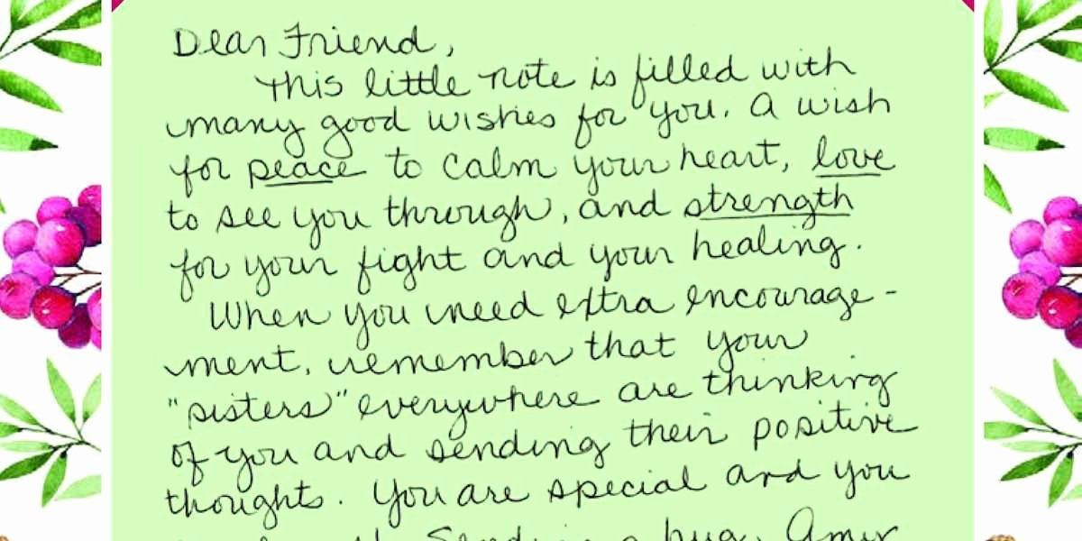 Pin By Linnea Handbury On Gifts Letter Of Encouragement Love Letter Examples Cancer Inspiration