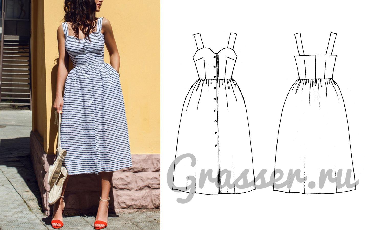 Как сшить выкройка платье-сарафан фото 341