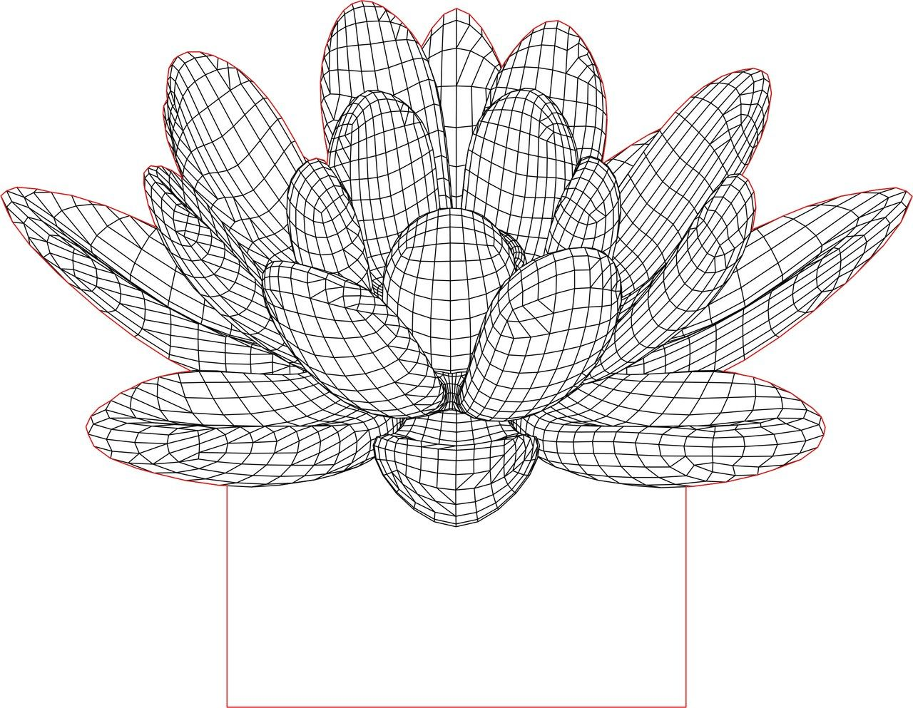 Acrile led lotus flower 3d illusion lamp vector file to build in acrile led lotus flower 3d illusion lamp vector file izmirmasajfo