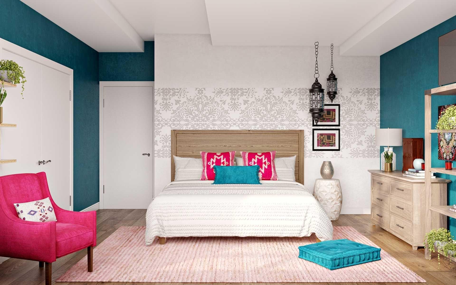 Coastal Bedroom Design By Havenly Interior Designer Natalie In 2021 Interior Design Coastal Room Online Interior Design