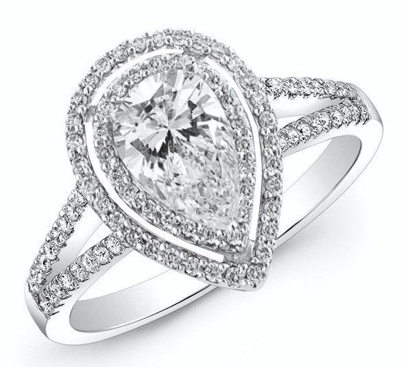 Halo Double Band Engagement Ring