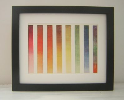 "Watercolour colourwash band ""Plate"" print. 1956 Black thick frame which can either be hung onto a wall or placed on a flat surface. There is a stand at the back of the frame. Approx 11 x 9 inches ( 29cm x 24cm"
