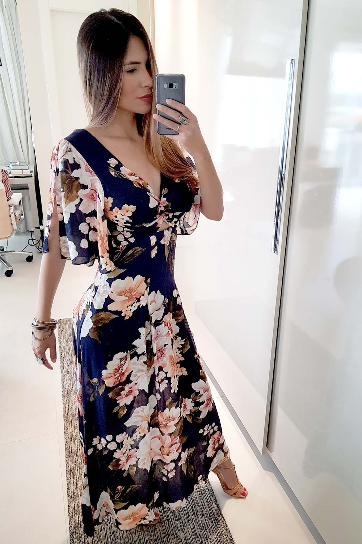 aae53b80b7c VESTIDO LONGO FARM MAXI FLOR - BabadoTop Gold Sequin Dress