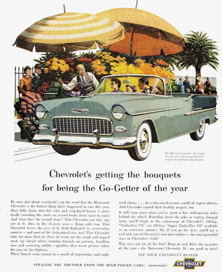 1955 Chevy Bel Air Convertible Ad 1955 chevrolet