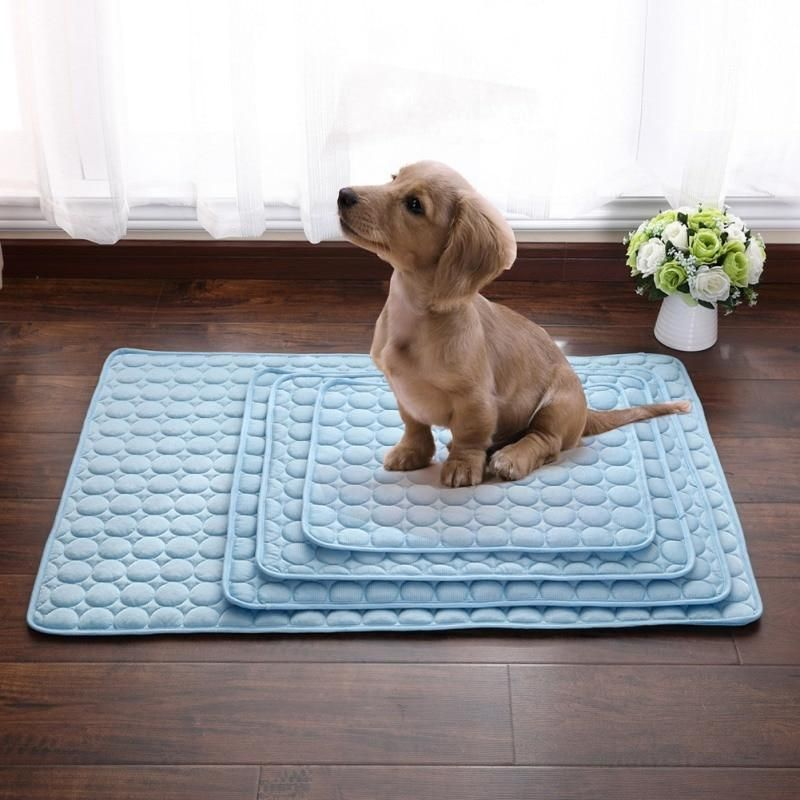 Pet Pad Summer Cooling Mat Dog Beds Cold Silk Moisture Proof Cooler Mattress Cushion Cat Bed Cool Pets Cat Pet Supplies